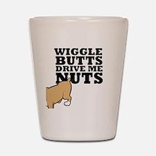 wigglebutts-black Shot Glass