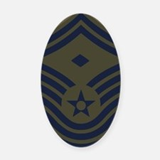 USAF-First-CMSgt-Old-Mousepad-5 Oval Car Magnet