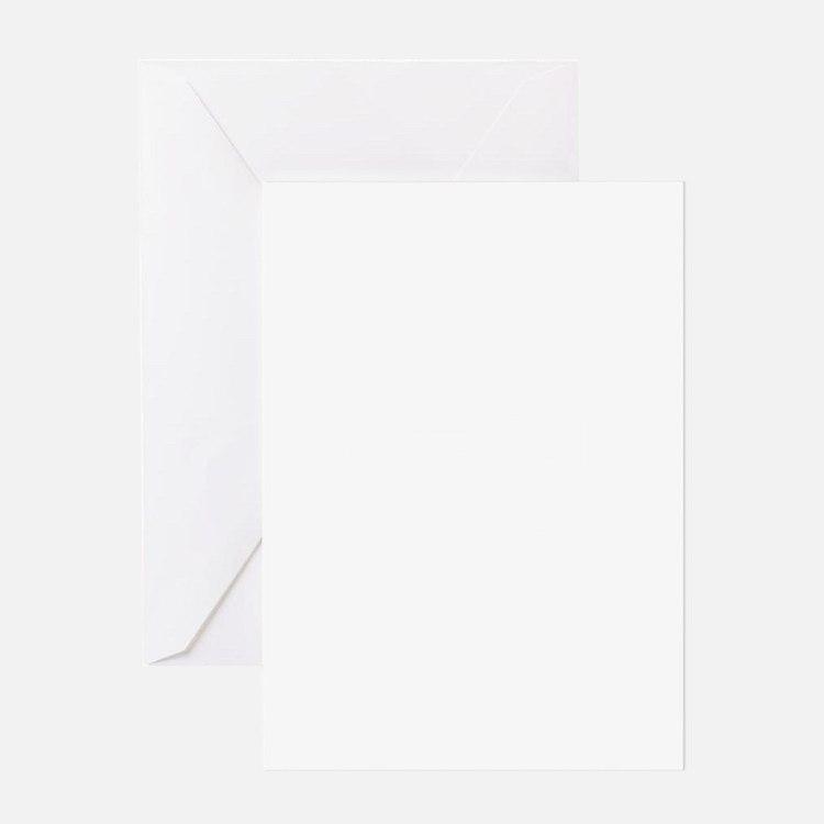 10x10 Center White Greeting Card
