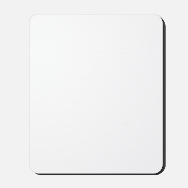 10x10 Center White Mousepad