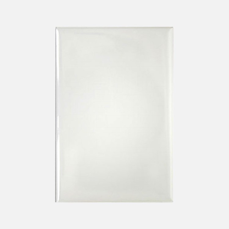 10x10 Center White Rectangle Magnet