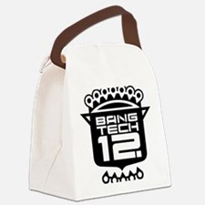 10x10 Center Black Canvas Lunch Bag
