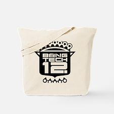 6x6 Pocket Black Tote Bag