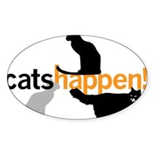 Cats Happen Decal