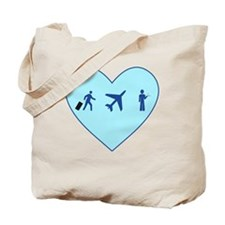 Flight Day Heart3 Tote Bag