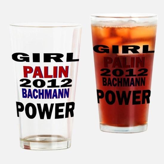 palin_bachmann_girlpower Drinking Glass