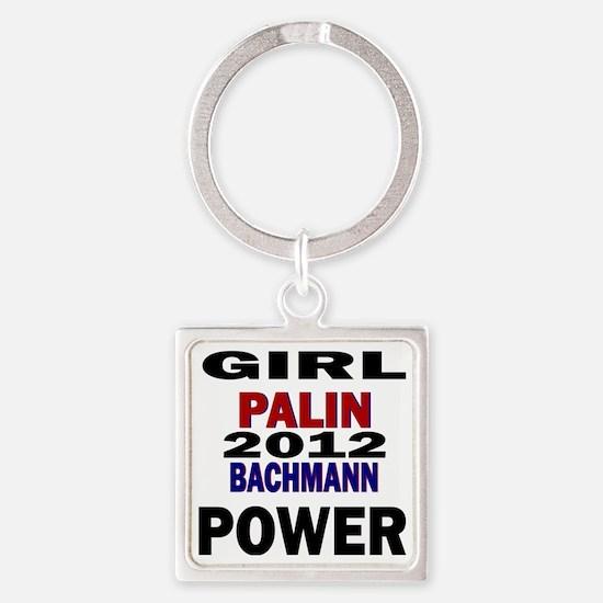 palin_bachmann_girlpower Square Keychain