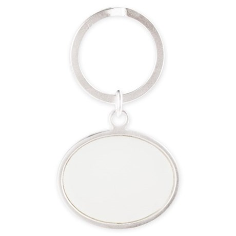 Run for wine white Oval Keychain