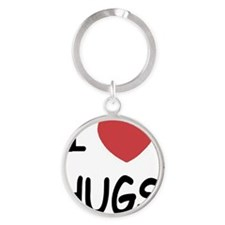 i-heart-HUGS01 Round Keychain