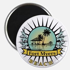 Fort-Myers-Beach-Hut Magnet