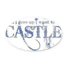 Castle Blue Oval Car Magnet