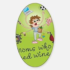 winemoms_logo Sticker (Oval)