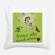 winemoms_logo Square Canvas Pillow