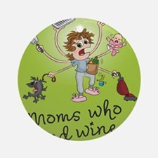 winemoms_logo Round Ornament
