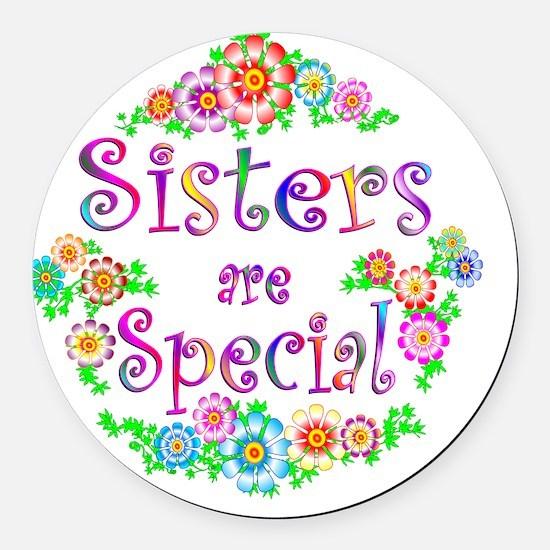 5-sister Round Car Magnet