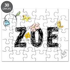 Zoe Floral Puzzle