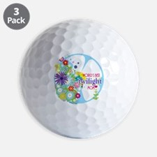 worlds best twilight mom aqua Golf Ball