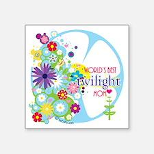 """worlds best twilight mom aq Square Sticker 3"""" x 3"""""""