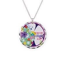 worlds best twilight mom pur Necklace
