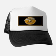 Get Hooked(5 x 2)Hat,Black,Gold+Black Trucker Hat