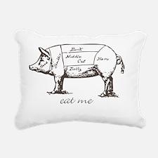 Eat Me Pork Dark Rectangular Canvas Pillow