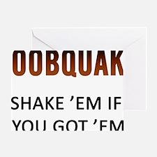 Boobquake Greeting Card