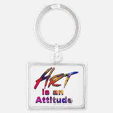 Art is an Attitude Landscape Keychain