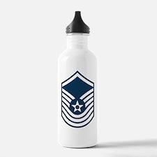 USAF-SMSgt-Old-Blue-PN Water Bottle