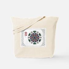 1977 Bulgaria Holiday Snowflake Postage Stamp Tote