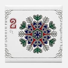 1977 Bulgaria Holiday Snowflake Postage Stamp Tile
