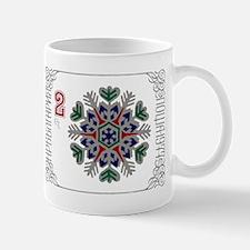 1977 Bulgaria Holiday Snowflake Postage Stamp Mugs