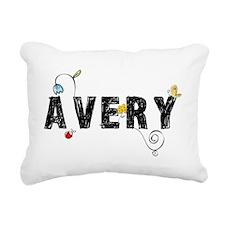 Avery Floral Rectangular Canvas Pillow