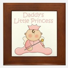 daddys little princess Framed Tile