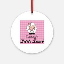 little lamb girl 2 Round Ornament