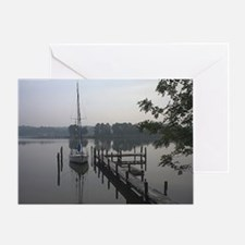 eastern-shore_dock_1_note Greeting Card