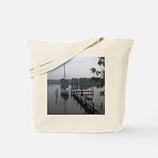 eastern-shore_dock_1_note Tote Bag