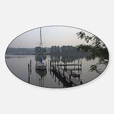 eastern-shore_dock_1_post Sticker (Oval)