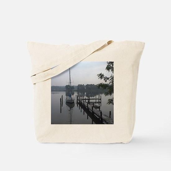 eastern-shore_dock_1_post Tote Bag