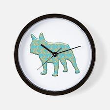 Paisley Bulldog Wall Clock