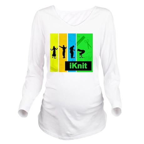 I knit 2 Long Sleeve Maternity T-Shirt