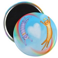 Whimsical Cat Angels Magnet