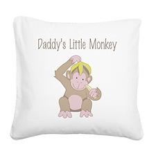 little monkey Square Canvas Pillow