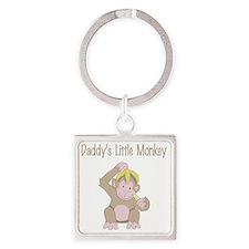 little monkey Square Keychain