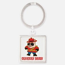 canadianbacon Square Keychain