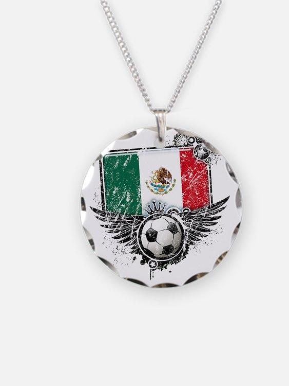 Soccer fan Mexico Necklace