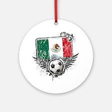 Soccer fan Mexico Round Ornament