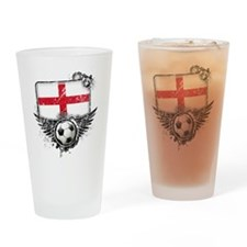 Soccer fan England Drinking Glass