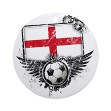 Soccer fan England Round Ornament