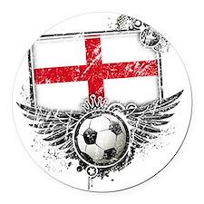 Soccer fan England Round Car Magnet