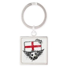 Soccer fan England Square Keychain